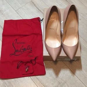 Christian Louboutin nude pigalle 100 KID pumps